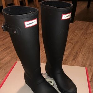 Hunter boots with boot socks!
